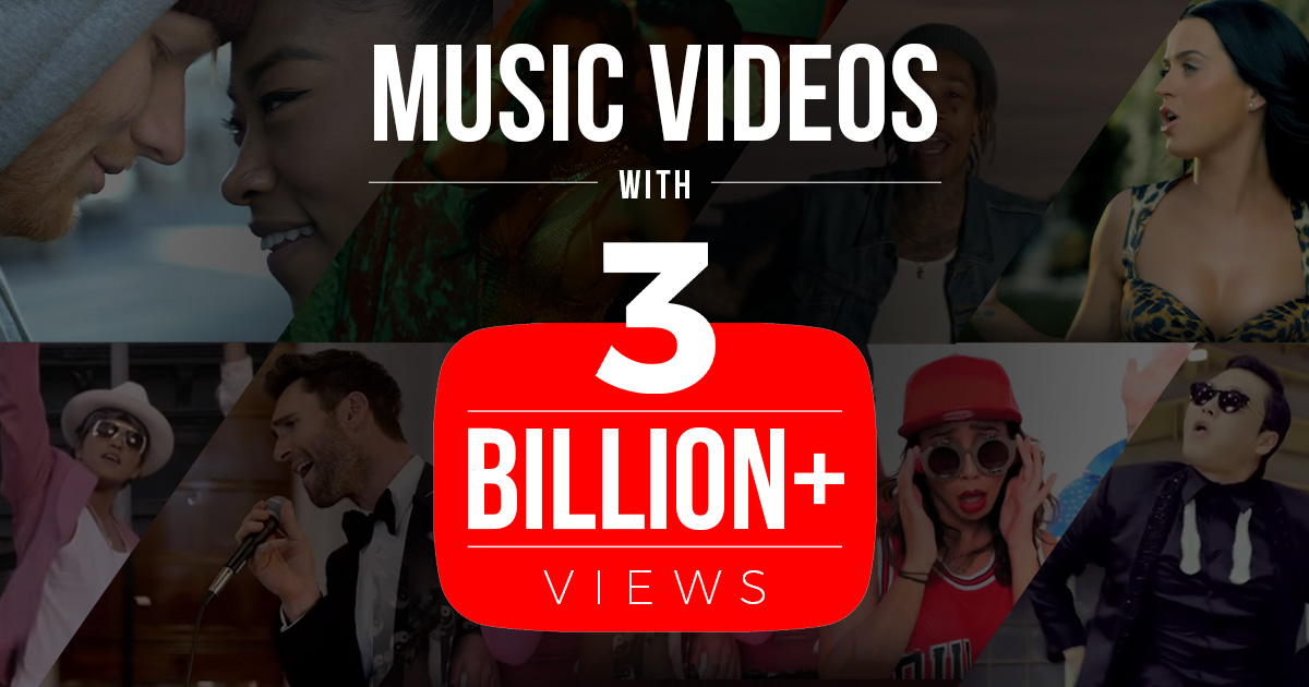 3 Billion Club: Music Videos that broke the Internet