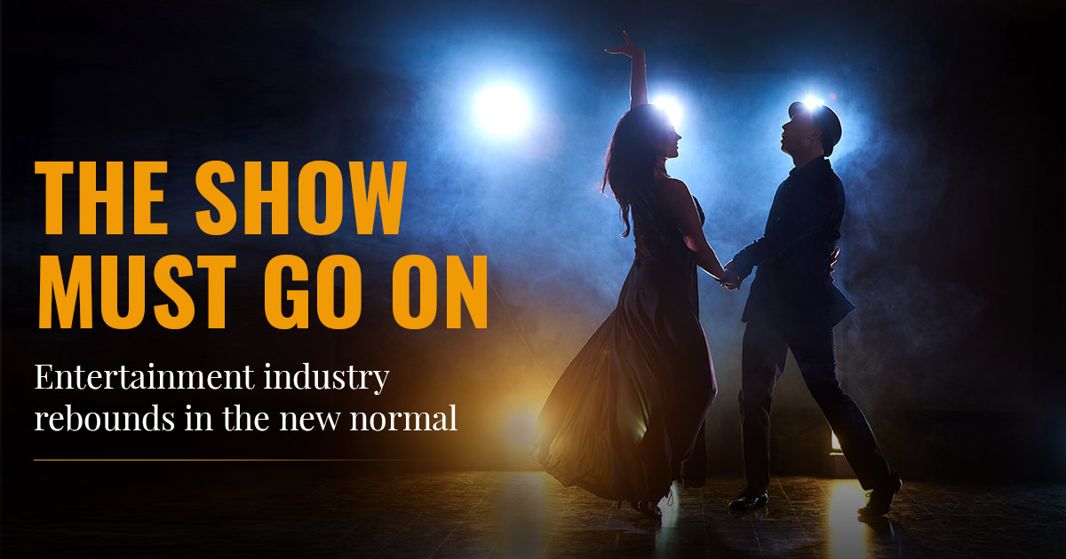 The show must go on: Entertainment industry rebounds in the new normal